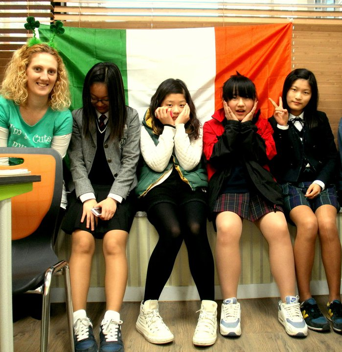 Teaching 'all things Irish' t my students in South Korea. Paddys Day 2011.