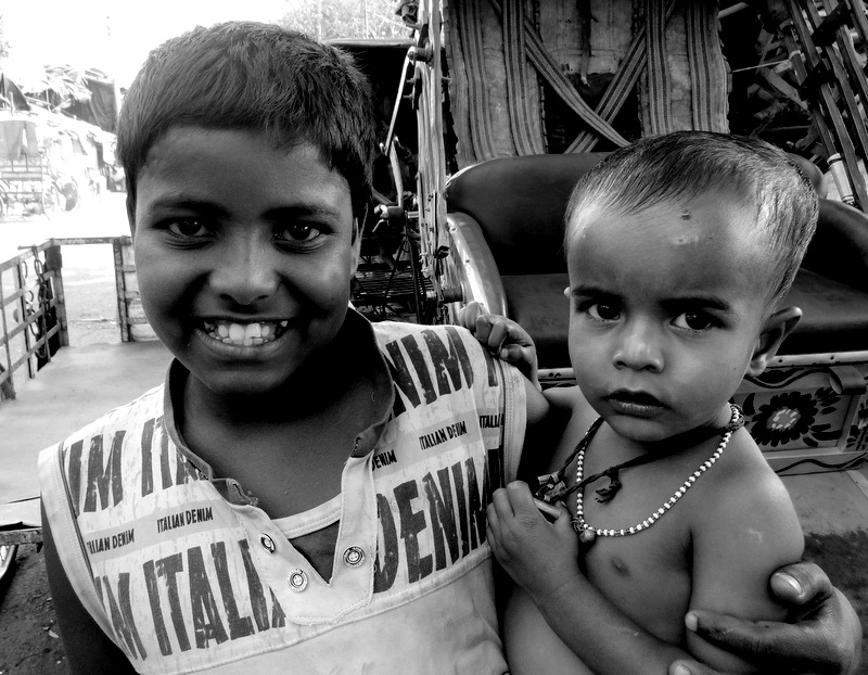 street and slum children