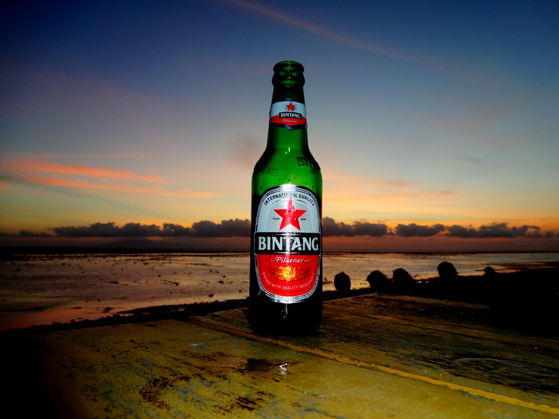 Bintang Beers at Sunset