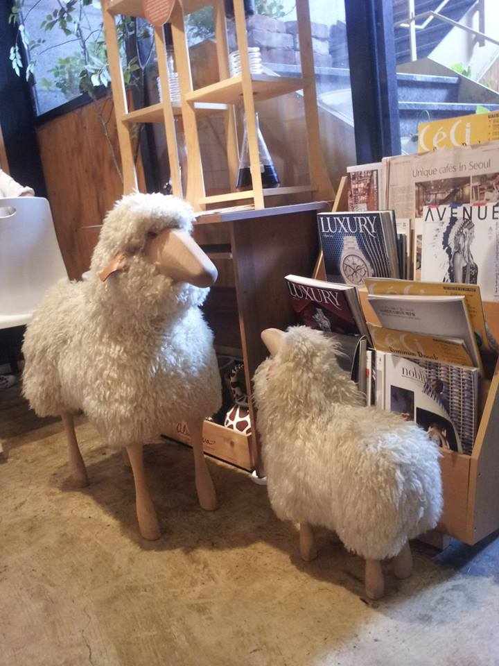 Some lovely fake sheep in case the real sheep are at the farm.