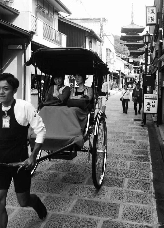 black and white japan
