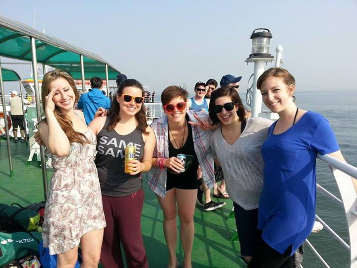 group on ferry