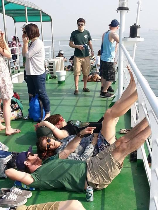 peeps on ferry