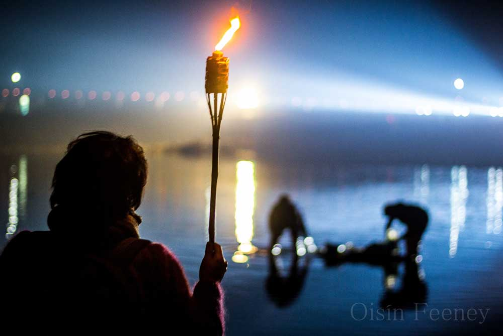 Night fishing in Jindo, during the Sea Parting Festival
