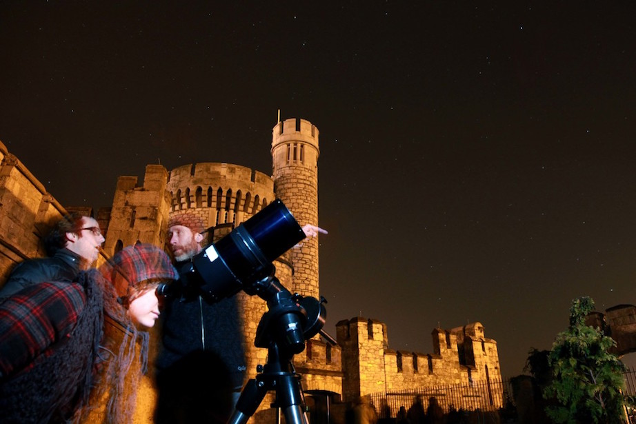 Aina Andreu from Barcelona looking at the stars during the Global star count in Orion at Blackrock Castle Observatory last Saturday as part of Earth Hour event. Pic: Miki Barlok