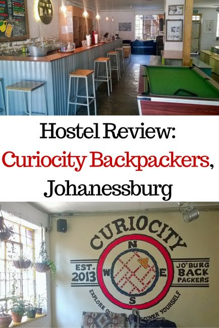 Hostel Review- Curiocity Backpackers, Johanessburg