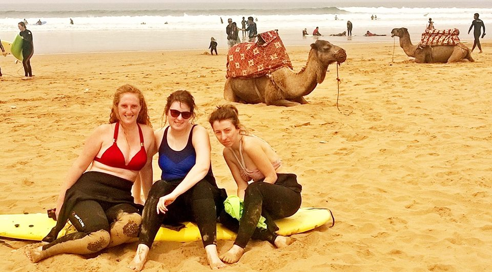surfing-taghazout-with-a-camel