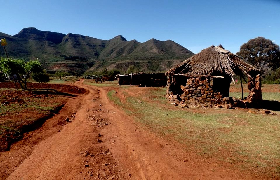 Travelling to Lesotho - Mud Huts