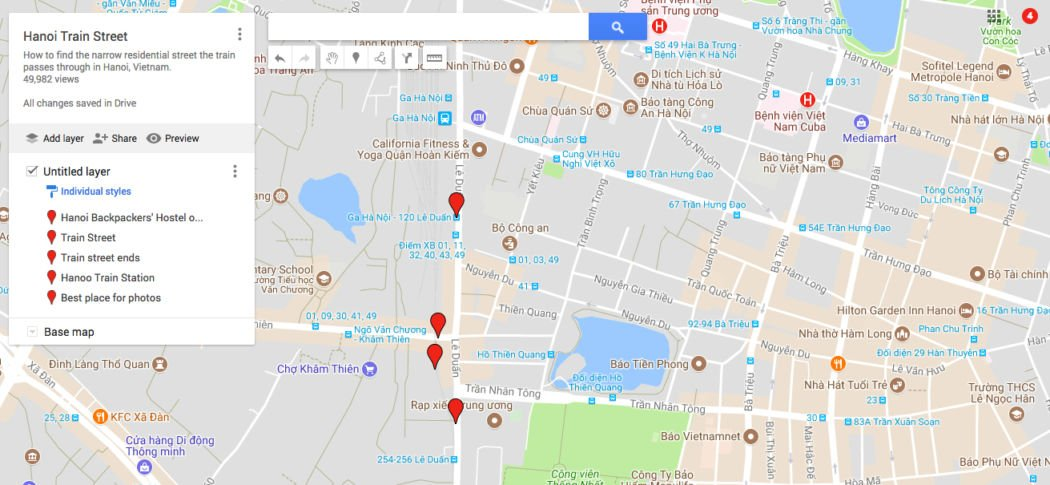 hanoi train street map