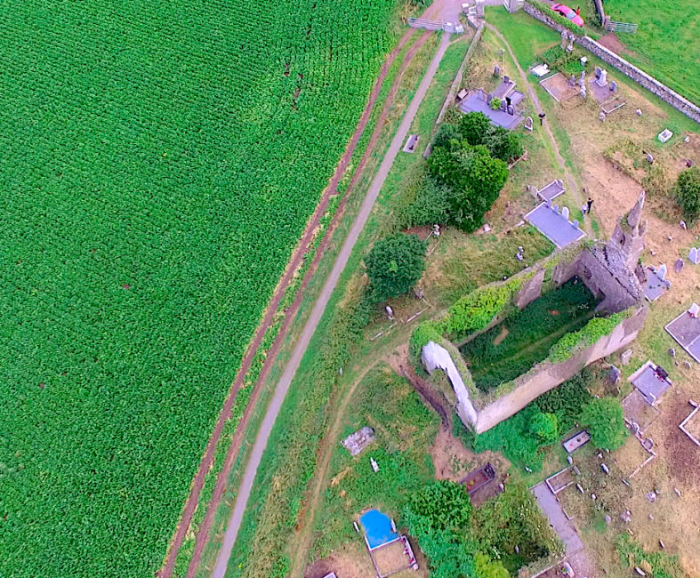old-church-aerial-photo