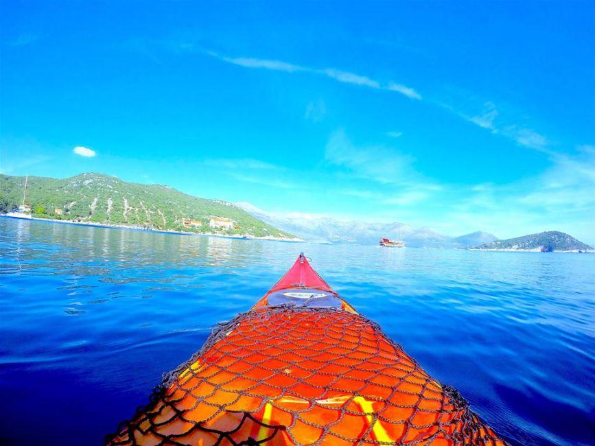 Kayaking on the elaphiti islands