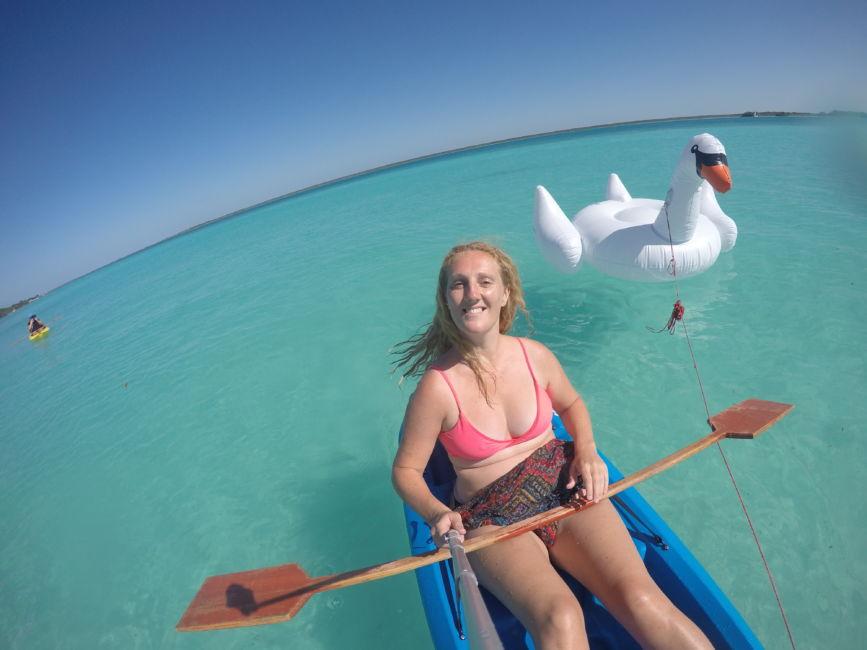 bacalar lagoon kayak trip
