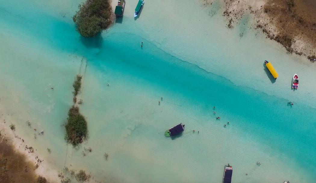 Bacalar Lagoon, Mexico aerial photo