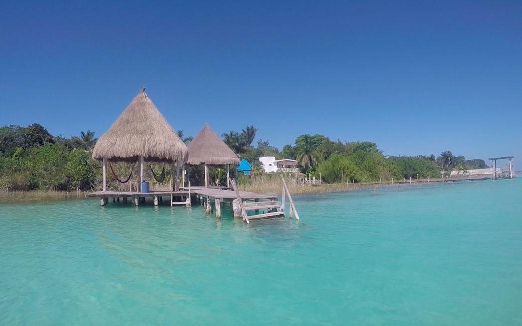 lake Bacalar jetty