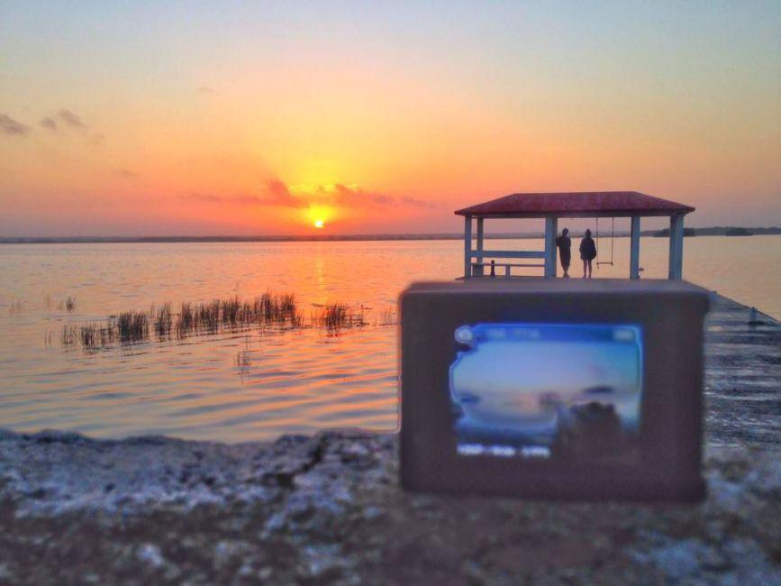 sunrise on bacalar lagoon Mexico