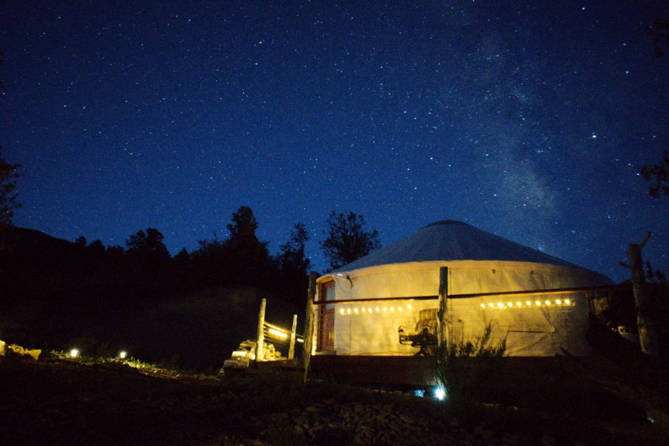 Glamping in Utah - Backcountry Yurt