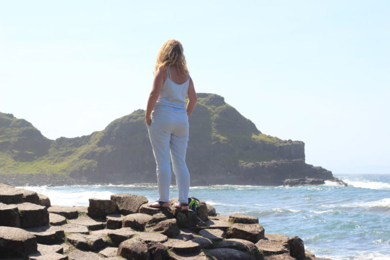 girl at giants causeway / Things to do in Northern Ireland
