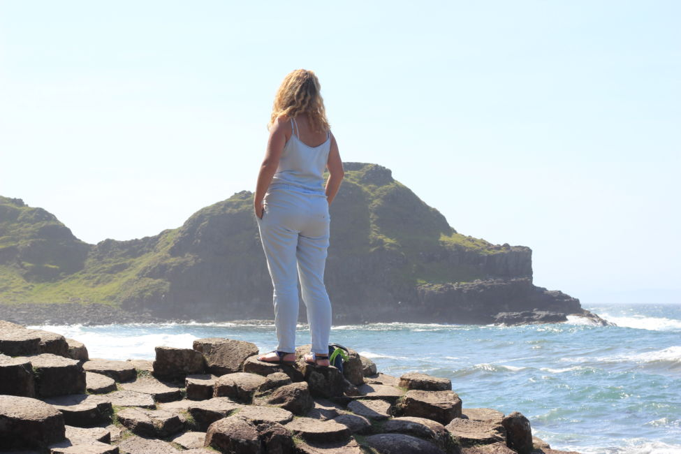 girl at giants causeway