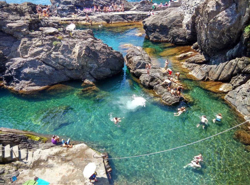 Swimming in Cinque Terre