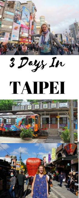 3 days in Taipei Itinerary