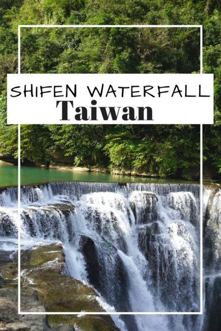 Visiting Shifen Waterfall