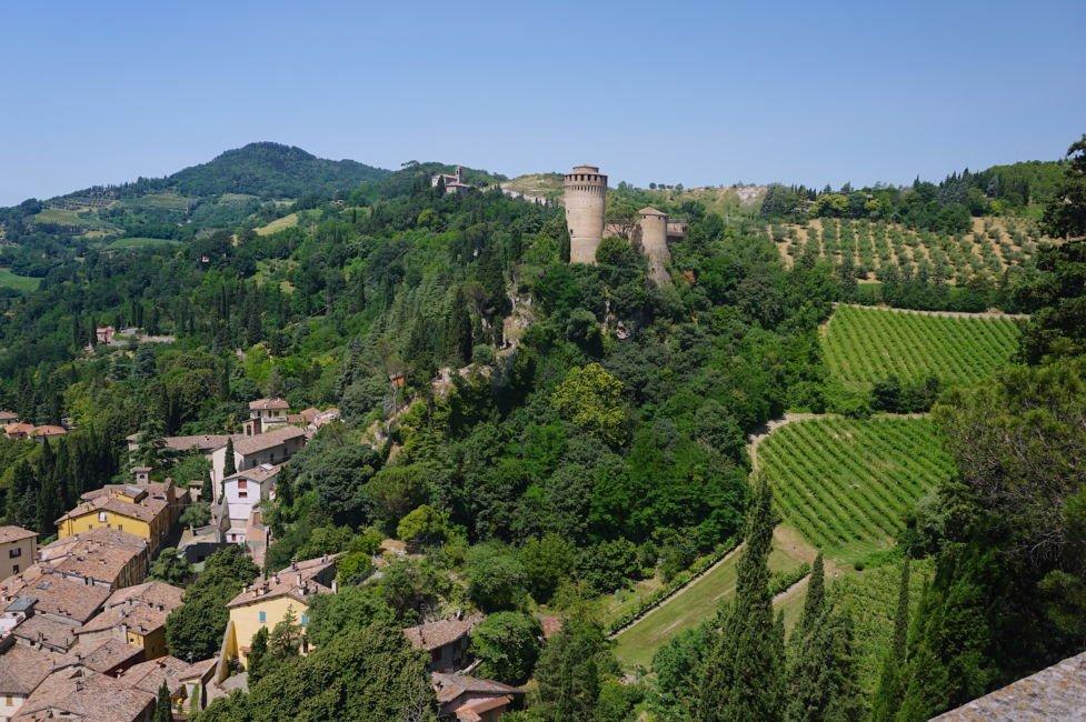 brisighella fortress view in summer