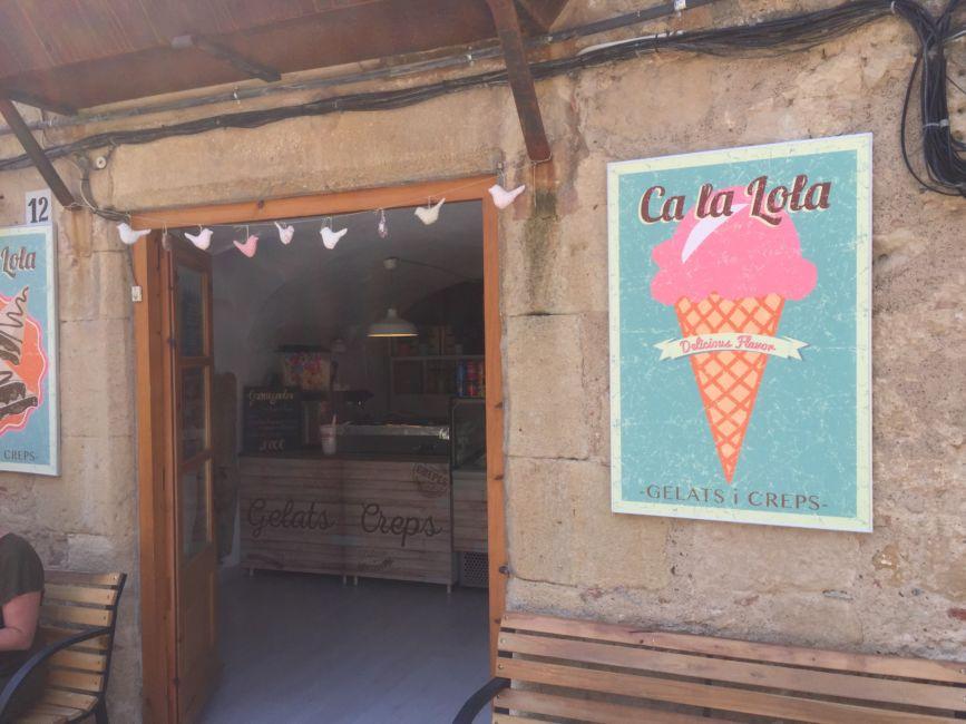 ice cream shop Peratallada