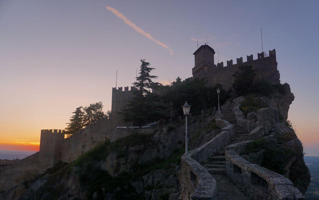 san marino hill town italy