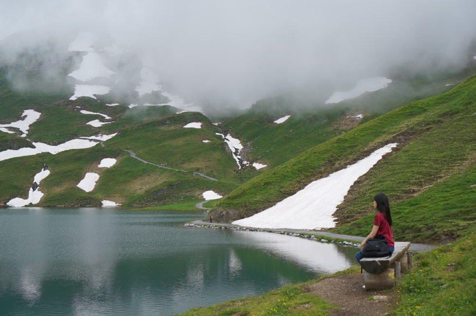 lake bachalpsee summer snow