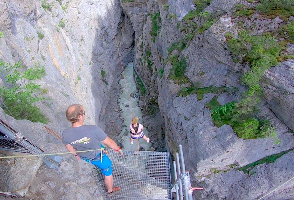 The Terrifying Grindelwald Canyon Swing - Switzerland Adventures