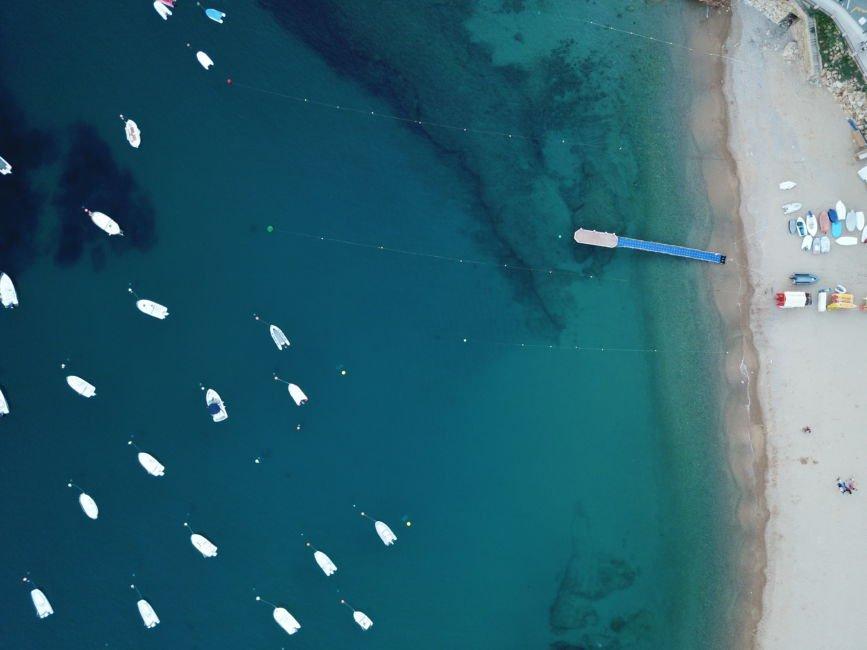 drone shot tossa de mar