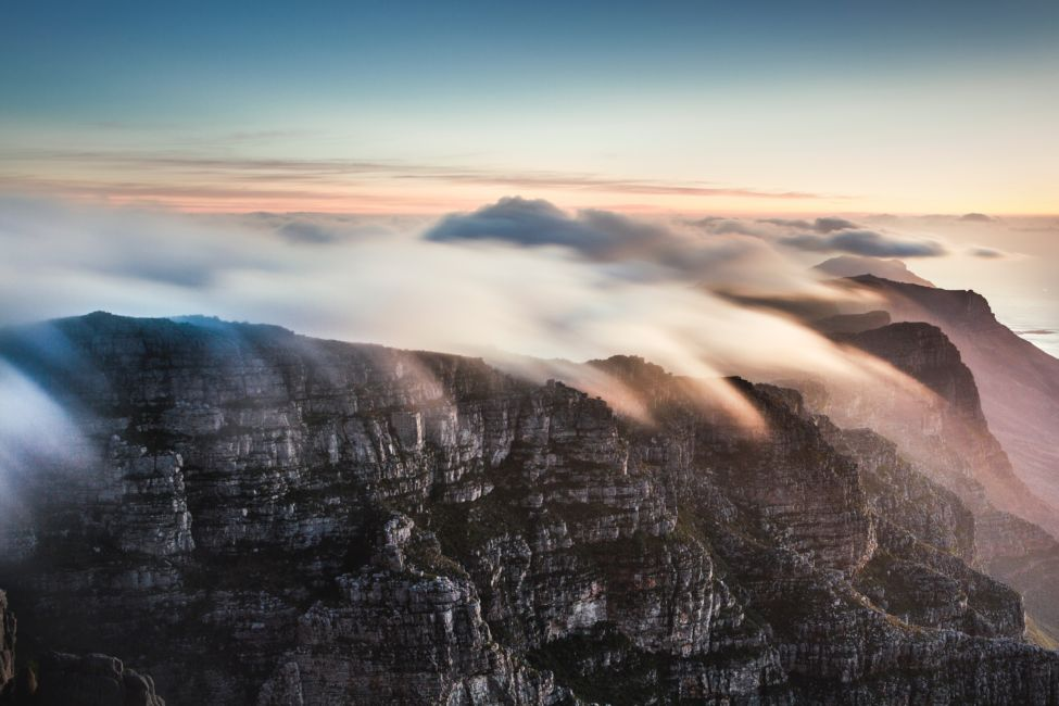 clouds over table mountain