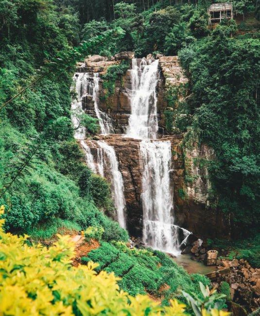 rainy season waterfall sri lanka