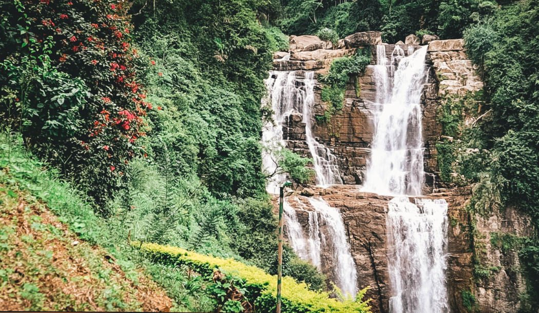 The Spectacular Ramboda Falls Outside Nuwara Eliya  Sri Lanka