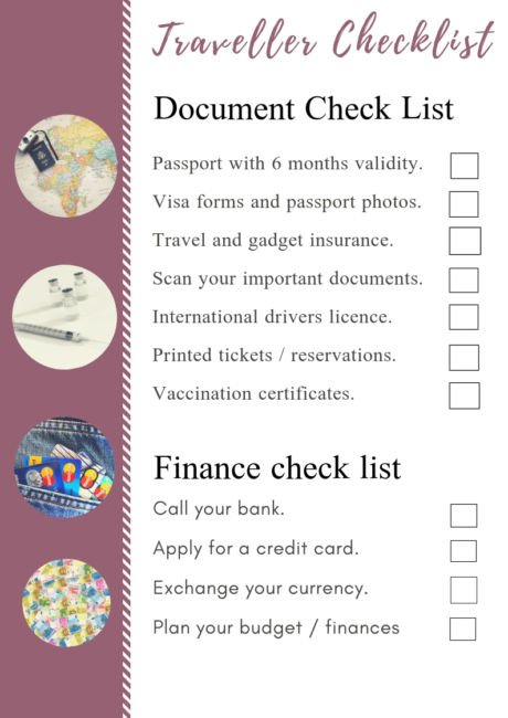Traveller Checklist For Your First Time Going Overseas - PDF