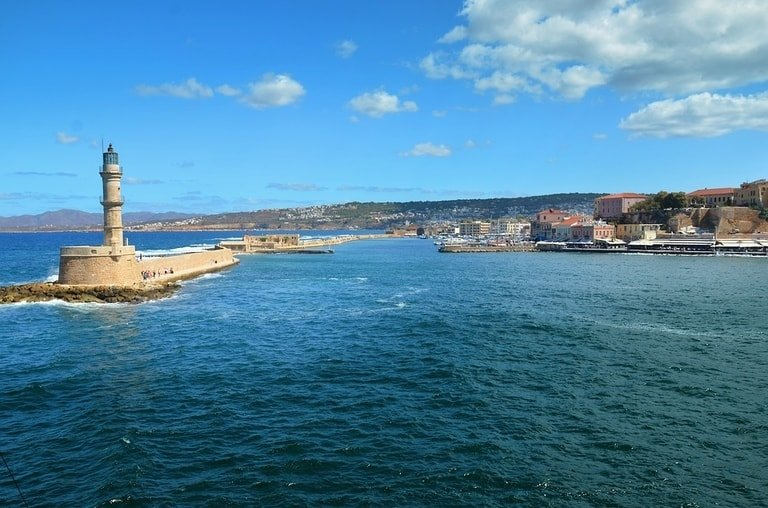 Old harbour in Chania