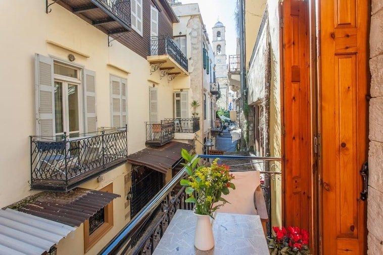 Balcony in airbnb in Crete