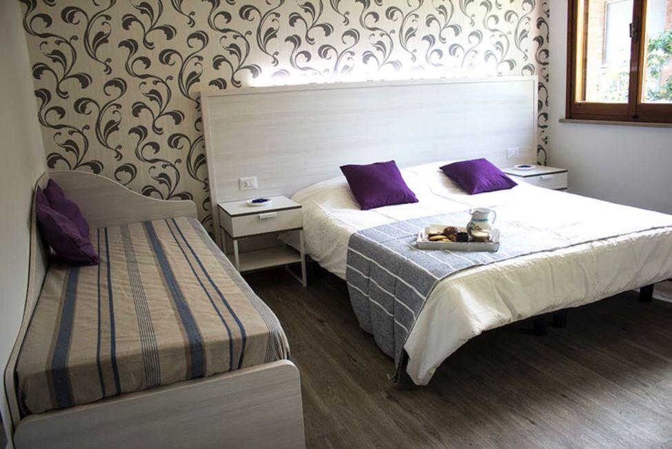 Bed in airbnb in Rimini