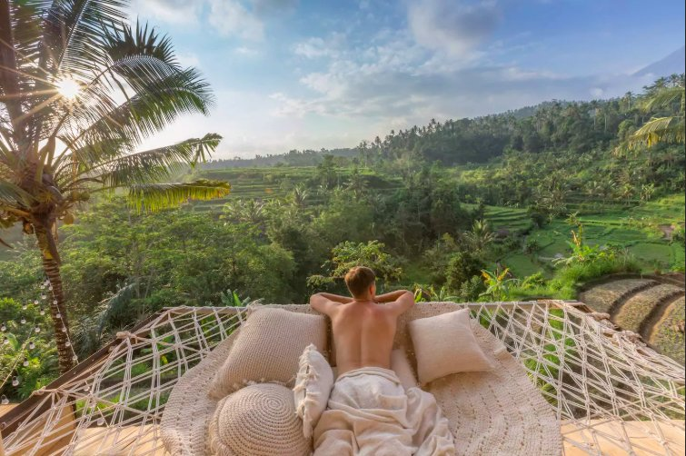 hammock airbnb bali in ubud
