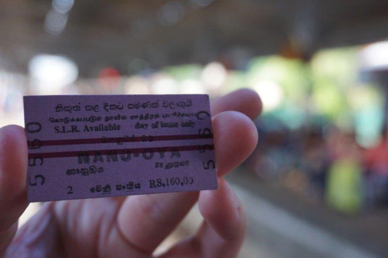 backpacking sri lanka train ticket