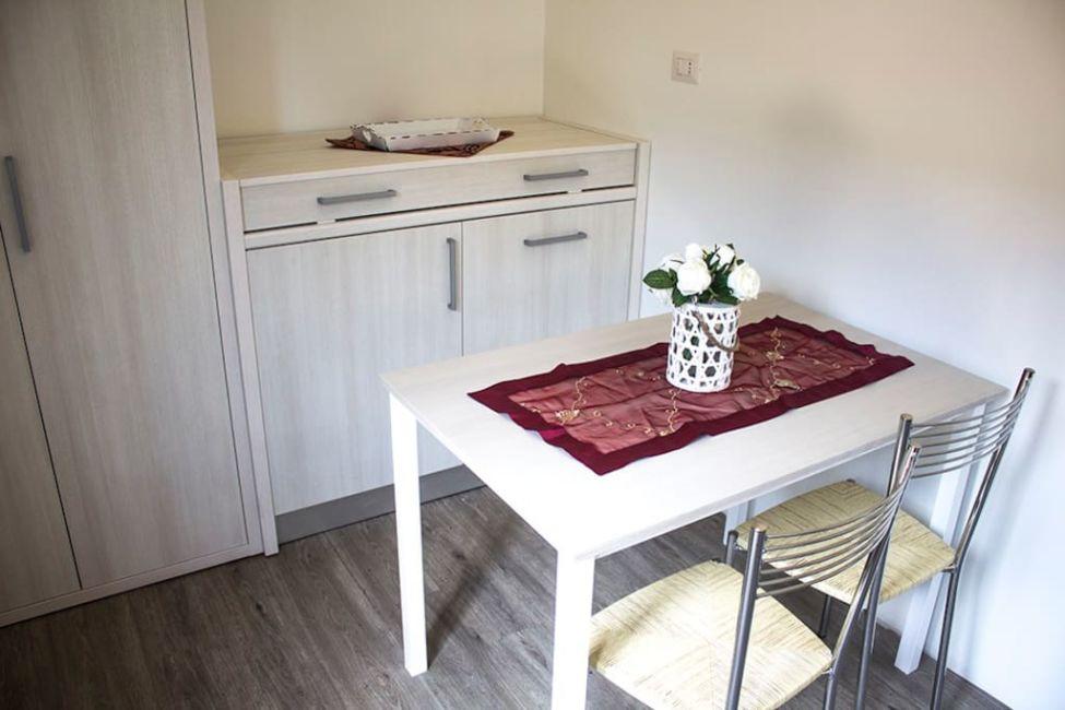Table in Airbnb in Rimini