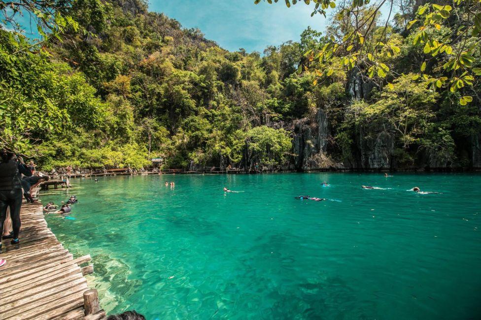 cave palawan lagoon