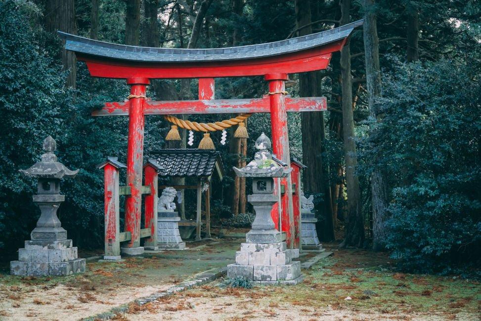 ancient temple sado island
