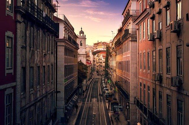 Lisbon city at night