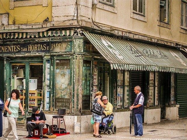 old shop front Lisbon