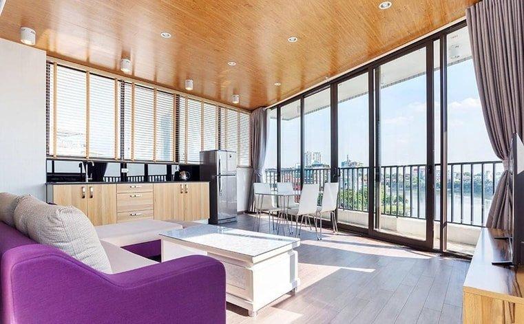 sky view hanoi airbnb