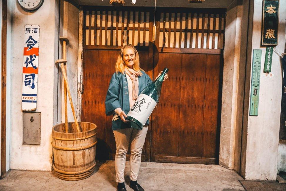 big sake bottle Niigata