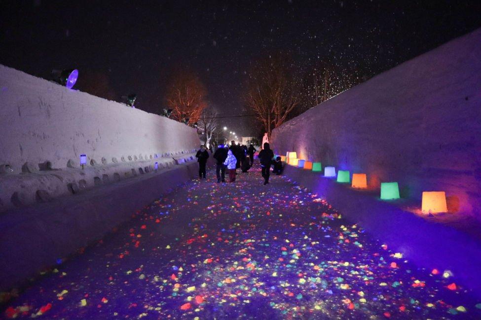 Higashikawa snow festival