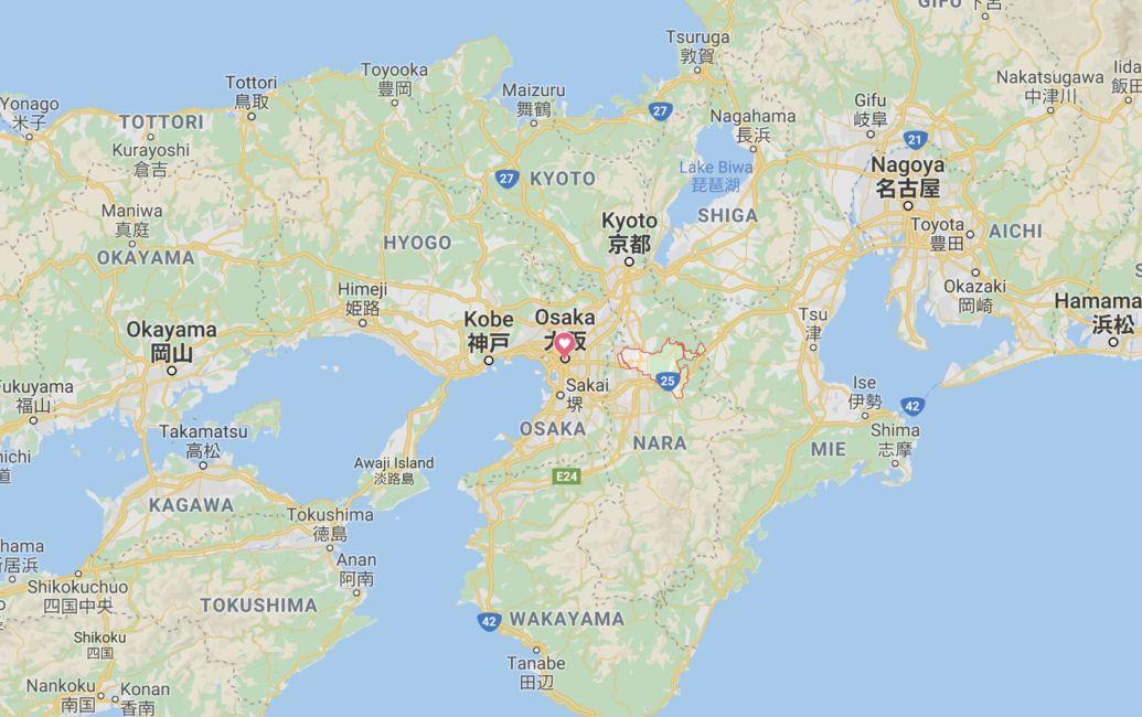 Nara Japan map
