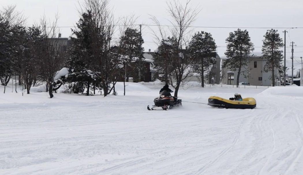 snow rafting Hokkaido